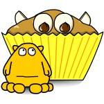 busythings Yellow Monster Red Nose Day Cupcakes