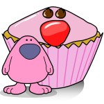 busythings Pink Man Red Nose Day Cupcakes