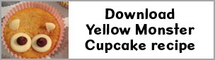 busythings, yellow monster, cupcake recipe, Red nose day