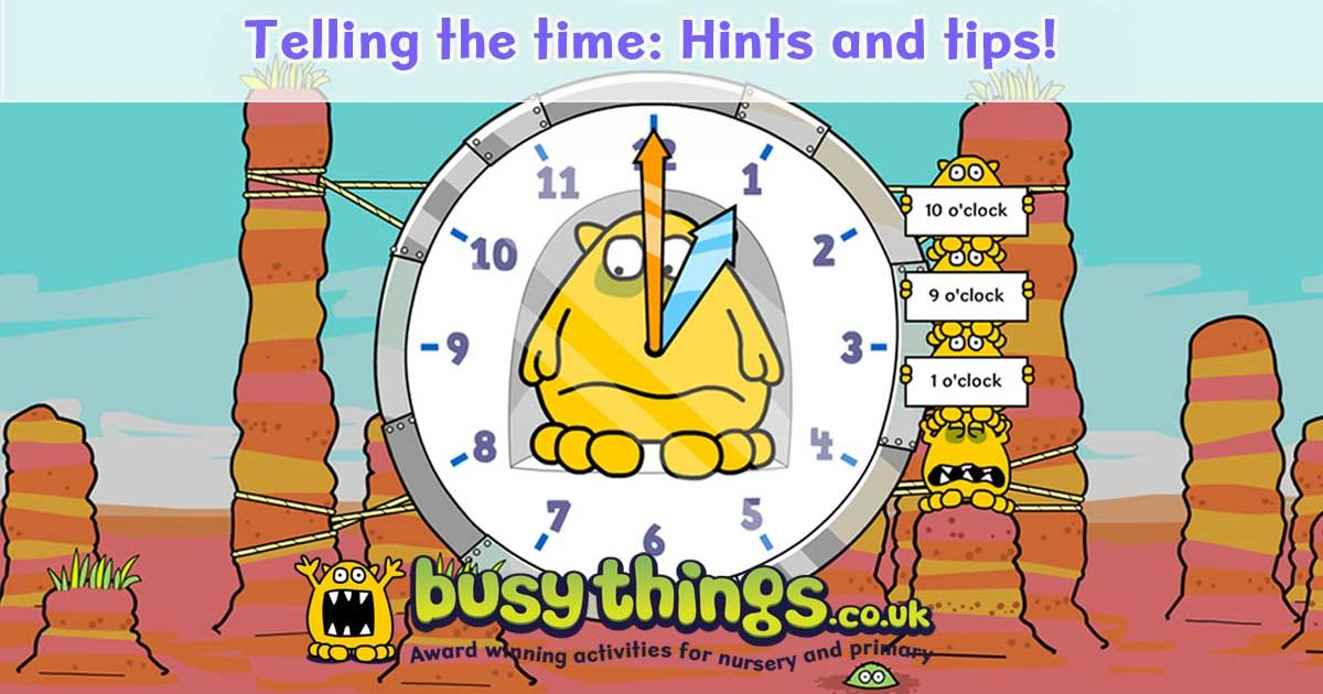 Teaching Children How to Tell the Time: Hints and Tips - Busy Things ...