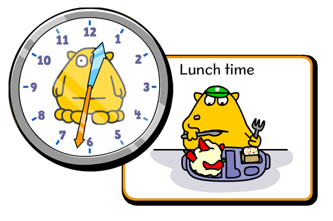 Telling time lunchtime