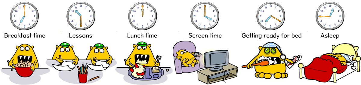 How to tell the time events of the day