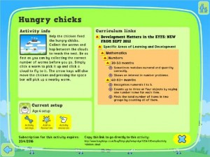 Hungry Chicks activity