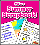 Summer activity ideas - free Busy Things scrapbook