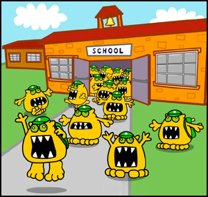 Schools out for summer - Busy Things monsters