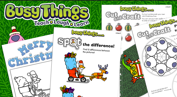Busy Things Christmas activity Printables
