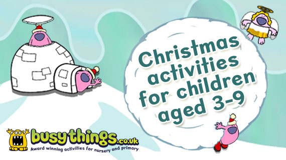 busythings Christmas activities for children aged 3-9