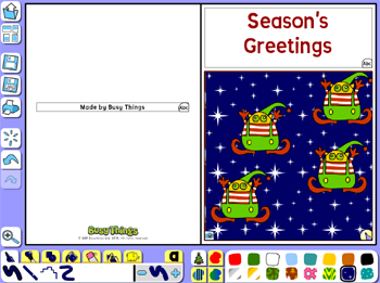 Make your own Christmas card online activity