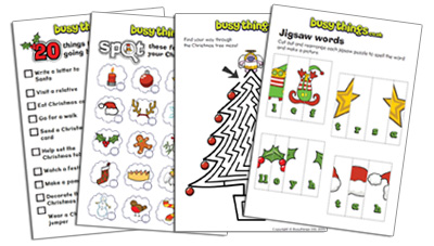 Christmas activities for kids to do from busythings