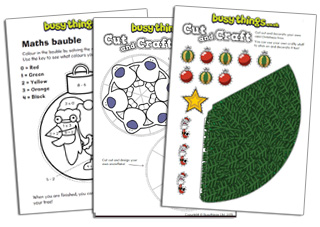 Christmas activities for kids to make from Busy Things