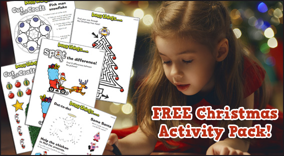 Free Christmas activity pack for kids from busythings