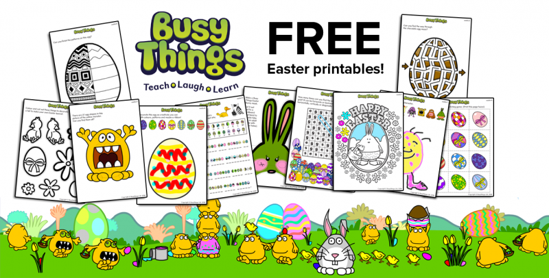 photo about Printable Easter Activities called Easter Routines for Little ones in opposition to Active Elements - Totally free