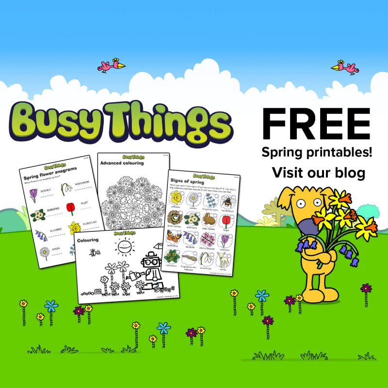 Spring Into Action Free Spring Printables For Kids From Busy Things