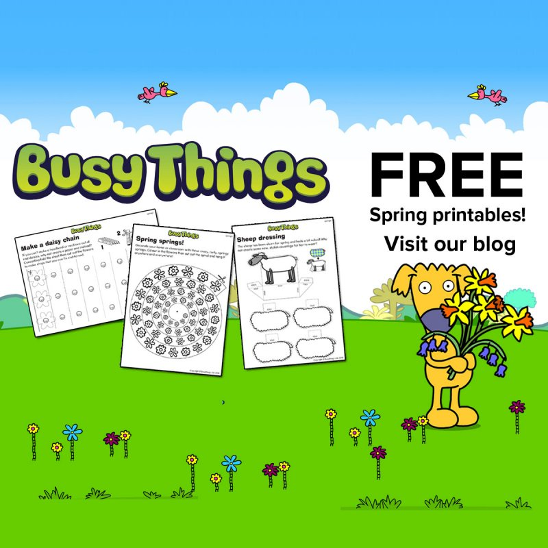 Spring Crafts For Kids Free Printables From Busy Things