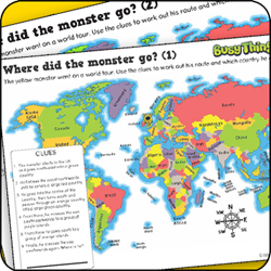 Busy Things kids activity pack - Where Did Monster Go?