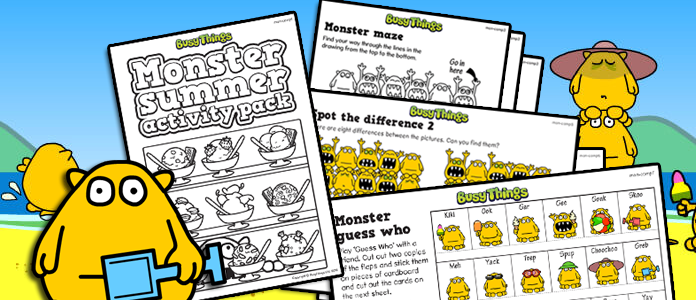 Busy Things Free Monster Activity Pack