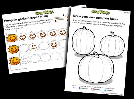 Halloween pumpkin activities