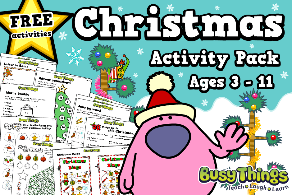 Free Christmas Activities for Kids from Busy Things