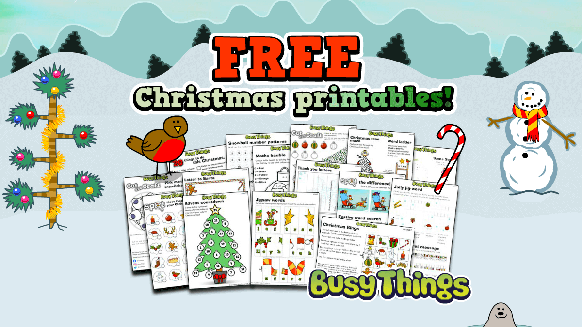 Christmas Activities For Kids Free Activity Pack Busy Things Blog