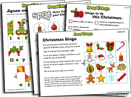 Christmas activities for kids to play