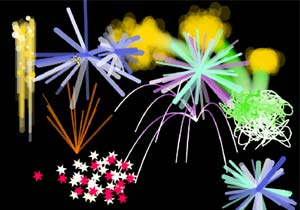 Chinese New Year fireworks icon