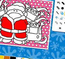 Christmas colouring icon