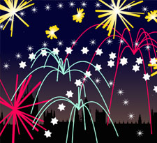 Firework display icon