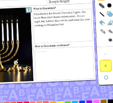 Write about Hanukkah icon