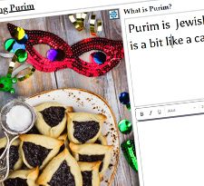 Write about Purim icon