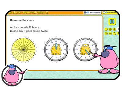 learning about the clock
