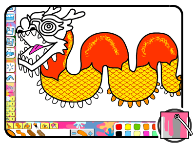 chinese dragon colouring