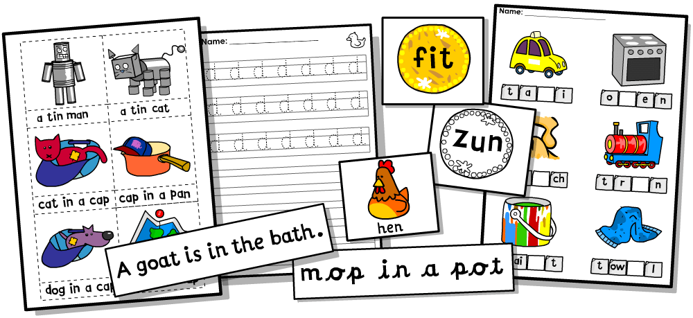 printable phonics resources and worksheets