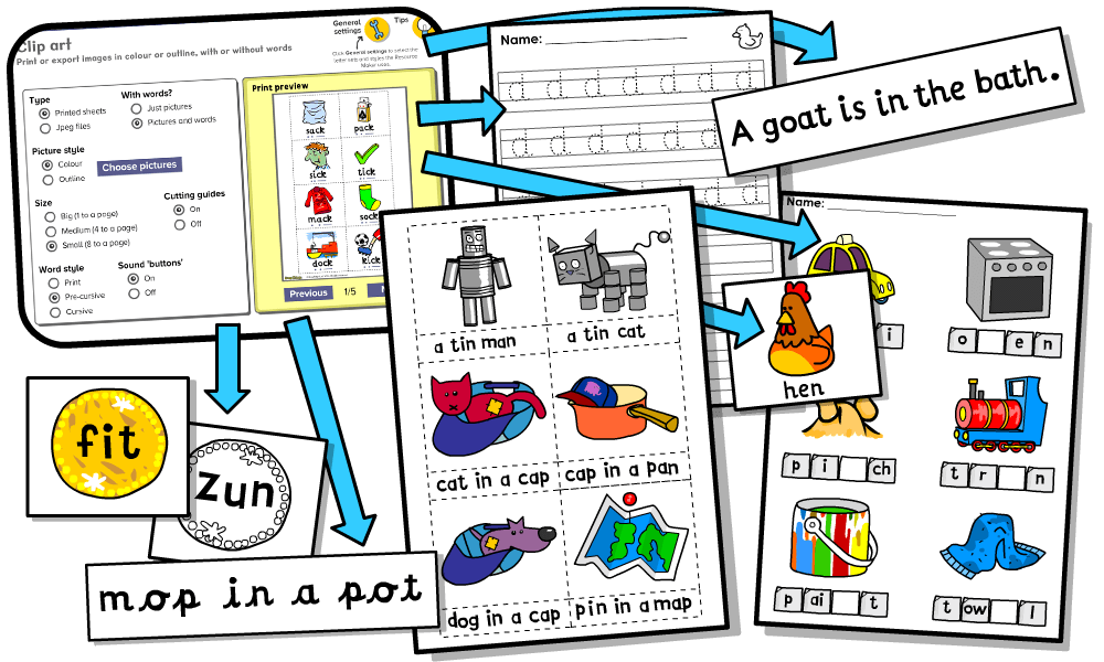 create custom phonics worksheets